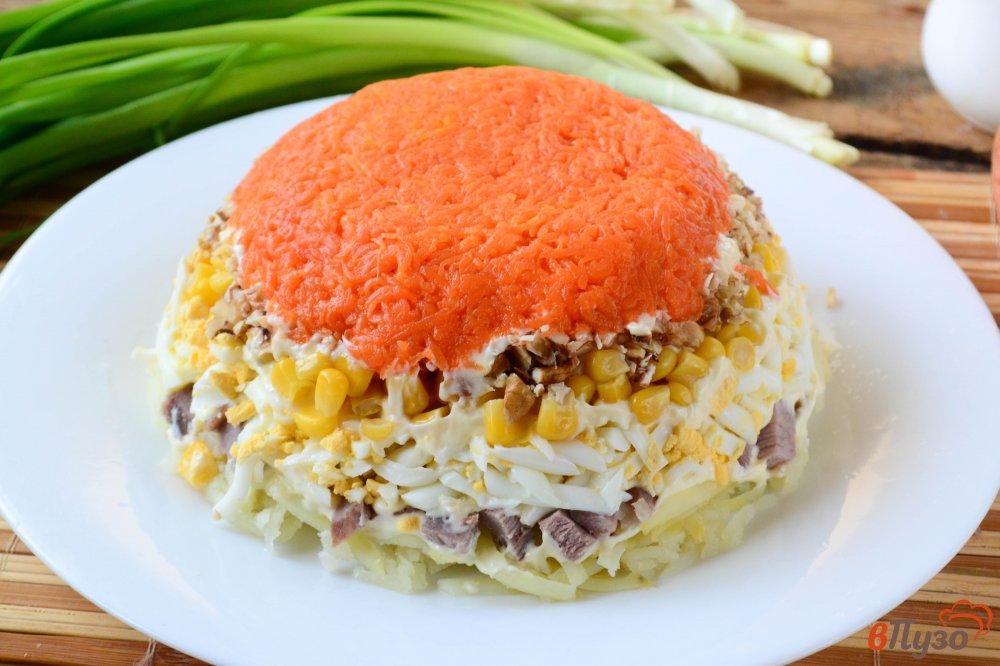 Фото приготовление рецепта: Салат с говядиной и гранатом шаг №8