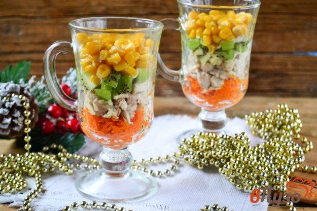 фото рецепта: Быстрый салат в бокалах