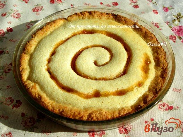 фото рецепта: Творожный пирог с абрикосовым джемом