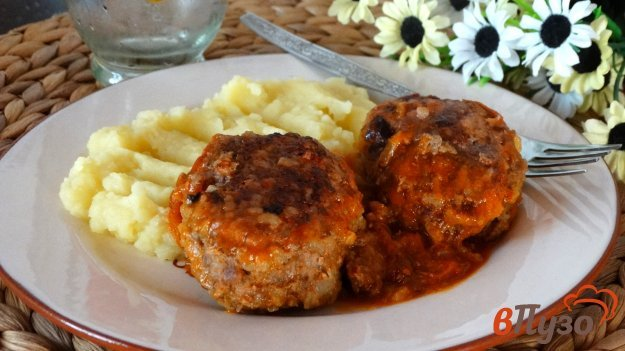 фото рецепта: Тефтели из говядины с жемчужным рисом