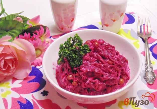 фото рецепта: Свекольный салат с зеленым горошком