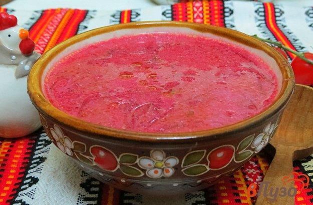 фото рецепта: Красный борщ с белыми грибами