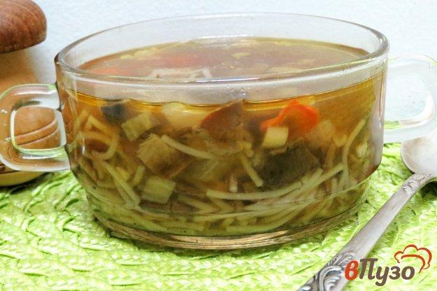 фото рецепта: Суп из белых грибов с вермишелью паутинка