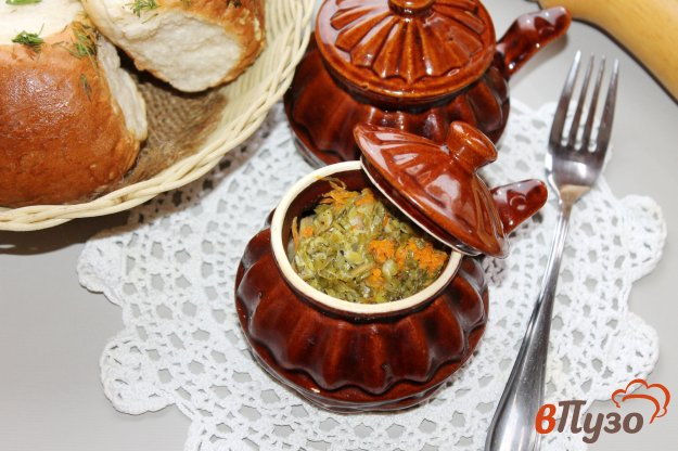 фото рецепта: Пельмени запеченные с грибами под сметанным соусом