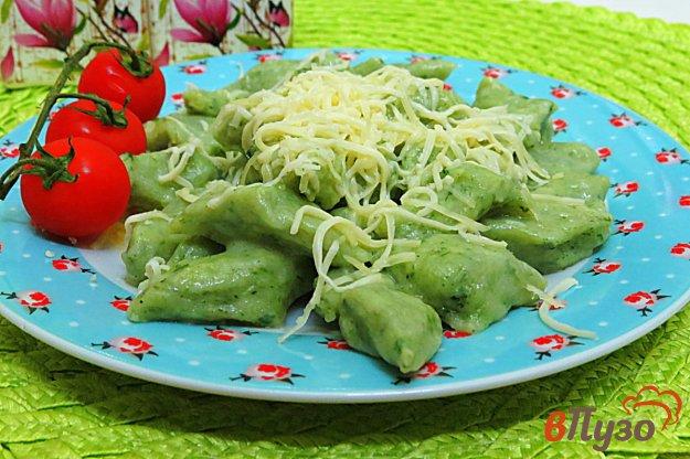 фото рецепта: Ньокки со шпинатом