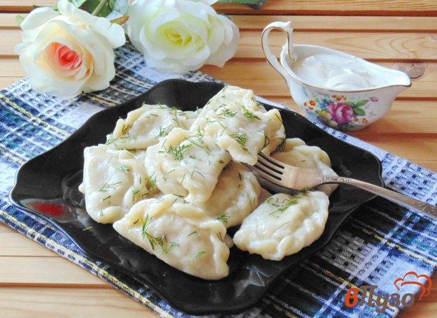 фото рецепта: Вареники с картофелем и отварным мясом