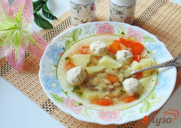 фото рецепта: Суп с фрикадельками и фасолью