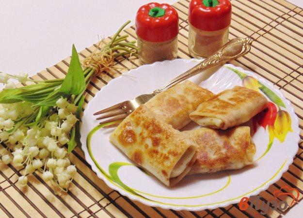 фото рецепта: Блинчики с мясом и картофелем