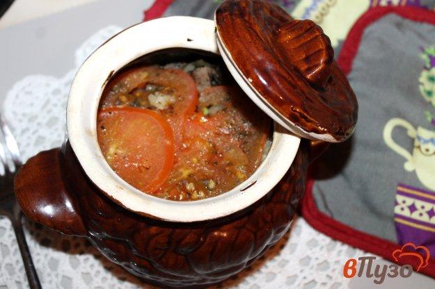фото рецепта: Рис с телятиной и овощами в горшочках