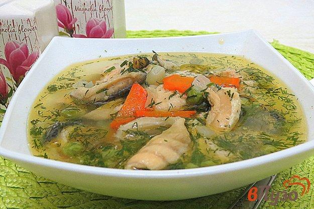 фото рецепта: Суп с лососем и горошком