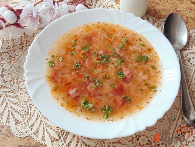 фото рецепта: Суп с рисом и копченостями