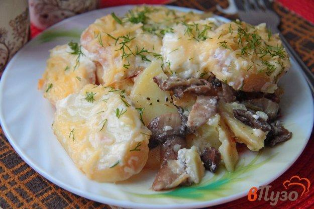 фото рецепта: Картофельная запеканка с грибами и сыром