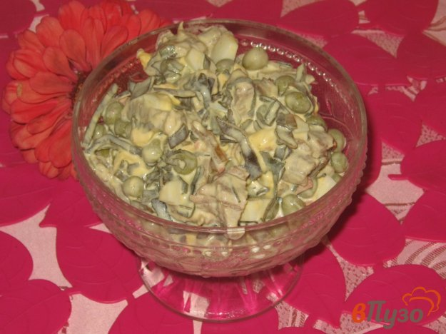 фото рецепта: Салат с говядиной и морской капустой