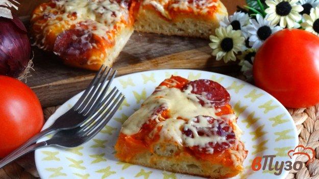 фото рецепта: Пицца по-домашнему в мультиварке