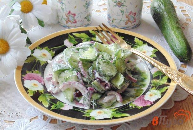 фото рецепта: Салат из огурцов и красного лука
