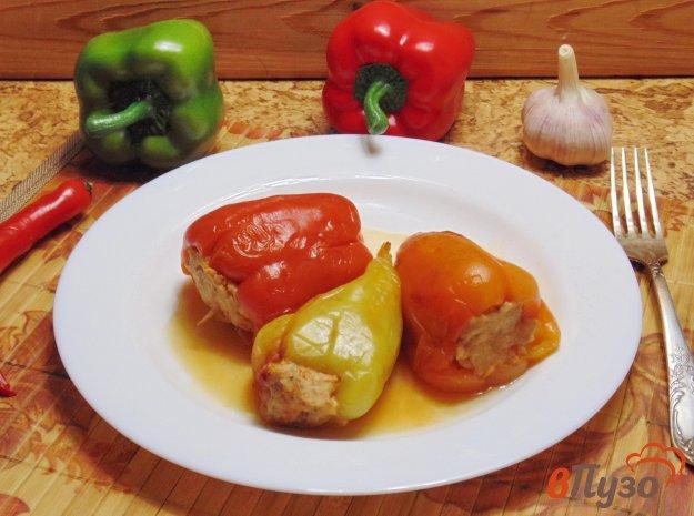 фото рецепта: Фаршированный перец с мясом и капустой