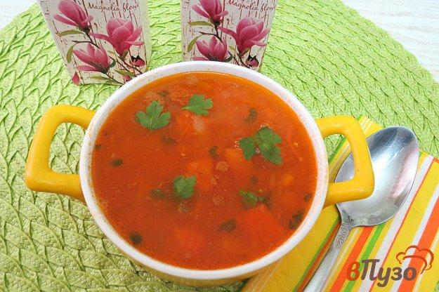 фото рецепта: Суп из тыквы и чечевицы