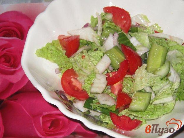 фото рецепта: Салат овощной с малосольными огурчиками
