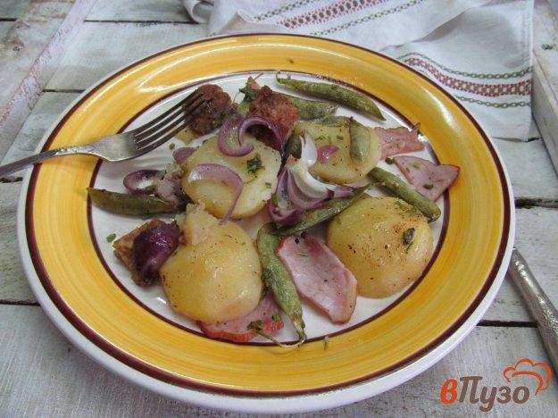 фото рецепта: Запеченный картофель с горошком в фольге