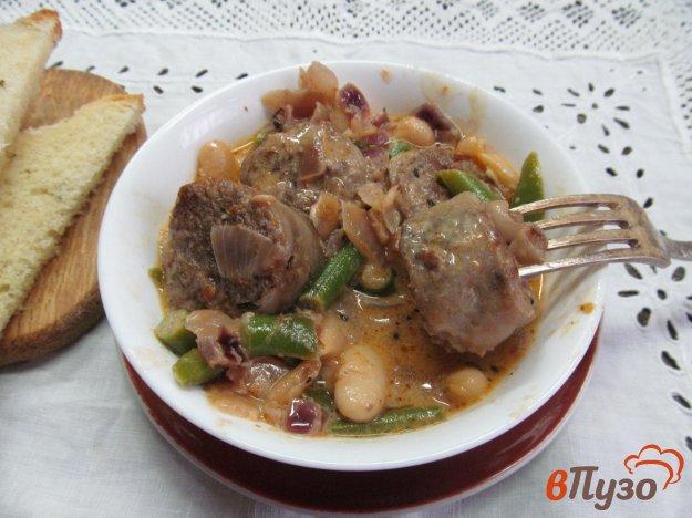 фото рецепта: Паприкаш из фасоли с домашней колбасой