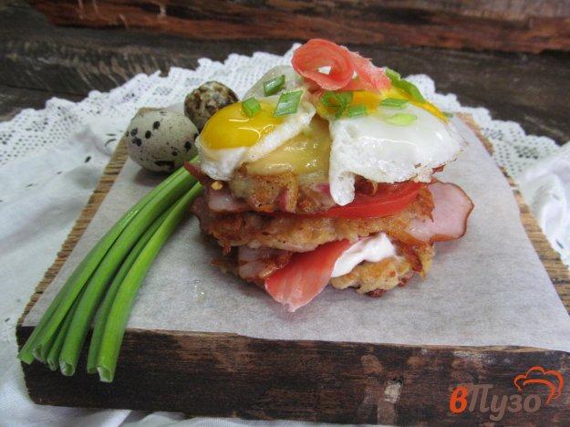 фото рецепта: Сэндвич из дерунов с редькой
