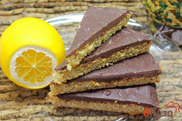 фото рецепта: Овсяный пирог покрытый шоколадом