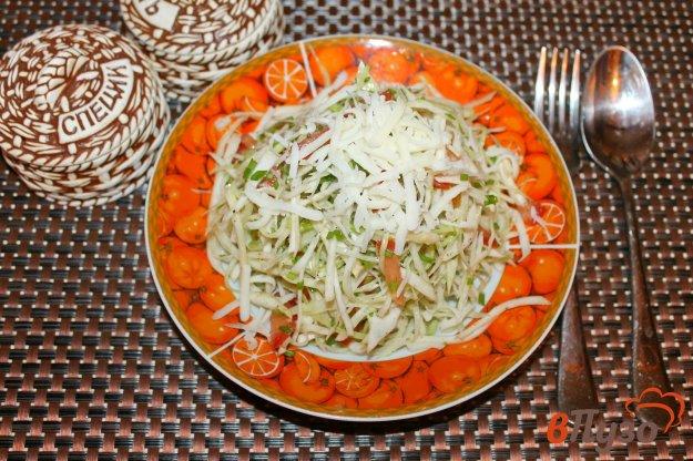 фото рецепта: Салат из белокочанной капусты с сельдереем и твердым сыром