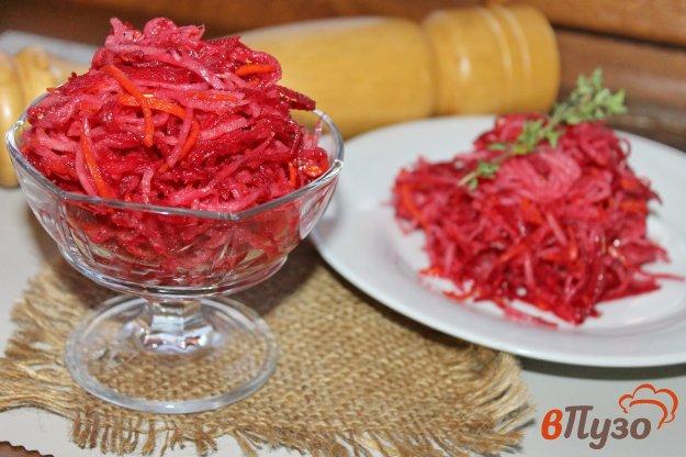 фото рецепта: Свекла с дайконом маринованные по - корейски