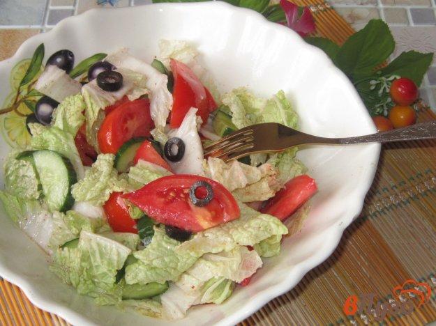 фото рецепта: Салат овощной с маслинами
