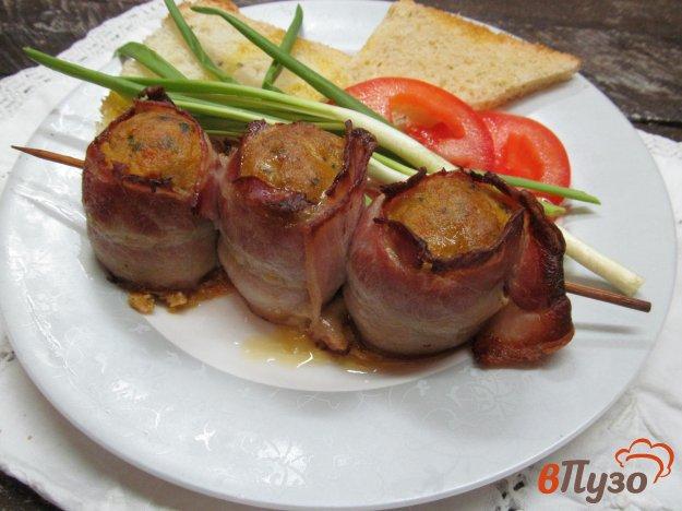 фото рецепта: Мясные рулеты в беконе