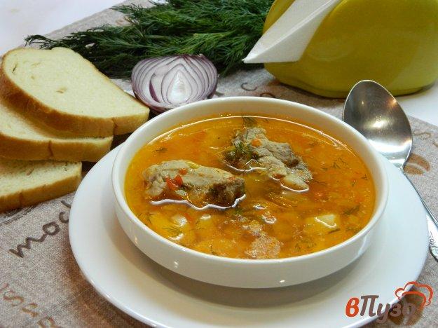 фото рецепта: Картофельный суп со свиными ребрышками