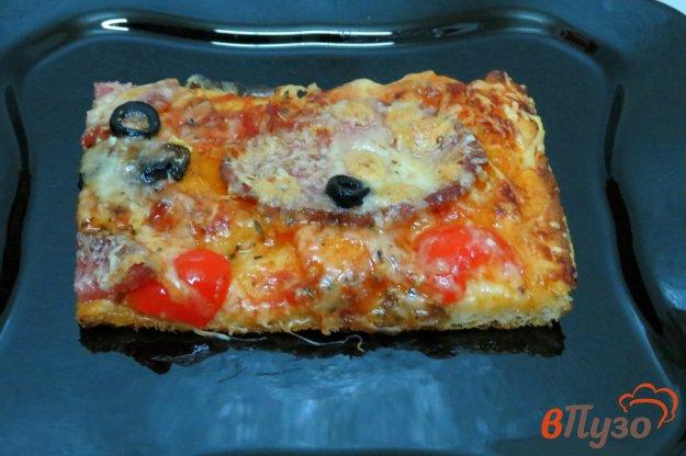 фото рецепта: Пицца  с грибами и маскарпоне