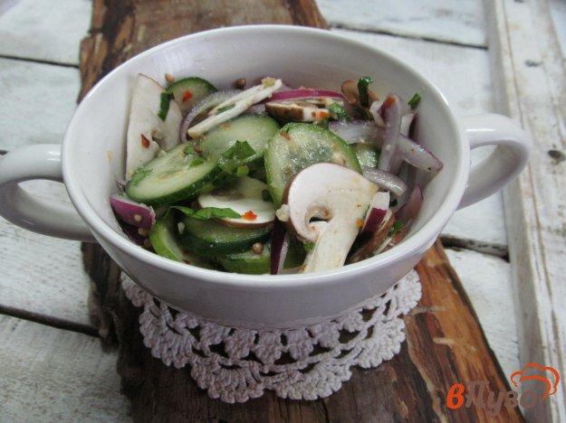 фото рецепта: Огурцы с грибами по китайски
