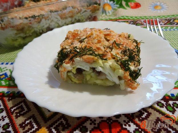 фото рецепта: Слоеный салат с сельдью