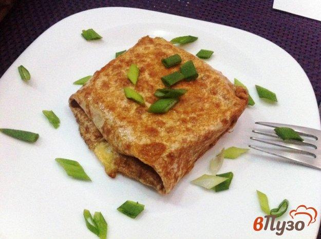 фото рецепта: Конвертики из лаваша с колбасой и сыром