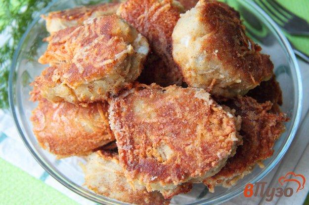 фото рецепта: Жареный минтай в сырной панировке
