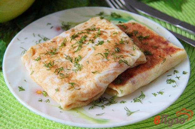 Яичные блинчики-конверты с ветчиной и сыром