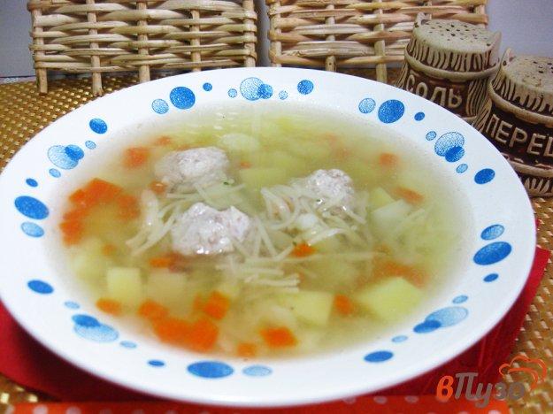Суп овощной с сельдереем и фрикадельками