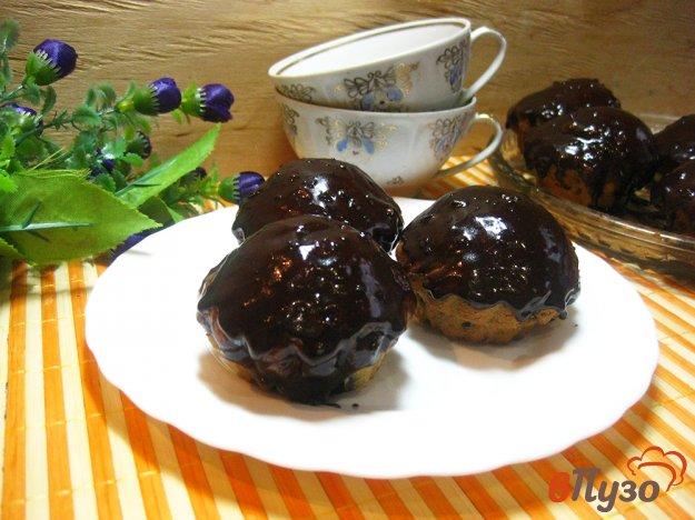 фото рецепта: Маффины в шоколадной глазури