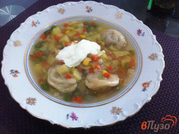 фото рецепта: Овощной суп с пельменями