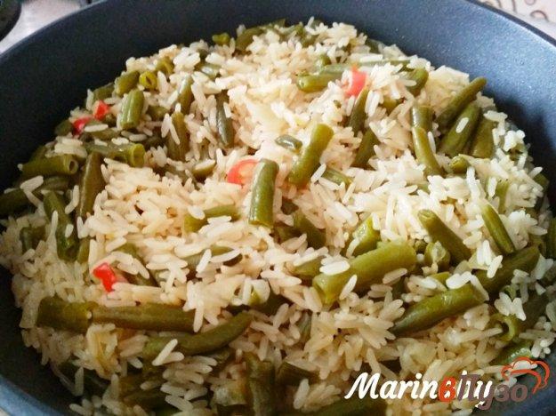 фото рецепта: Острый рис со спаржевой фасолью на гарнир