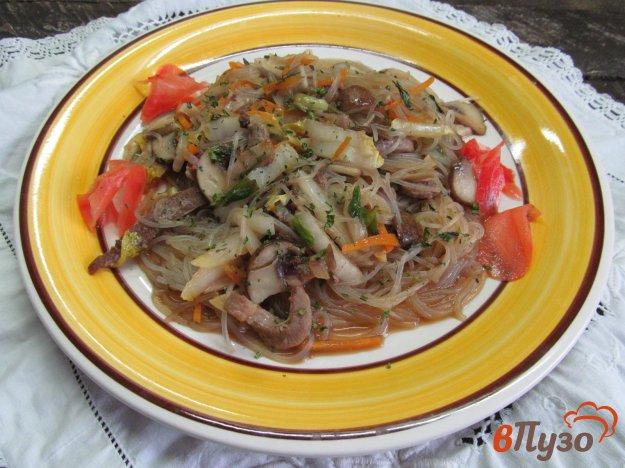 фото рецепта: Жареная рисовая лапша со свининой