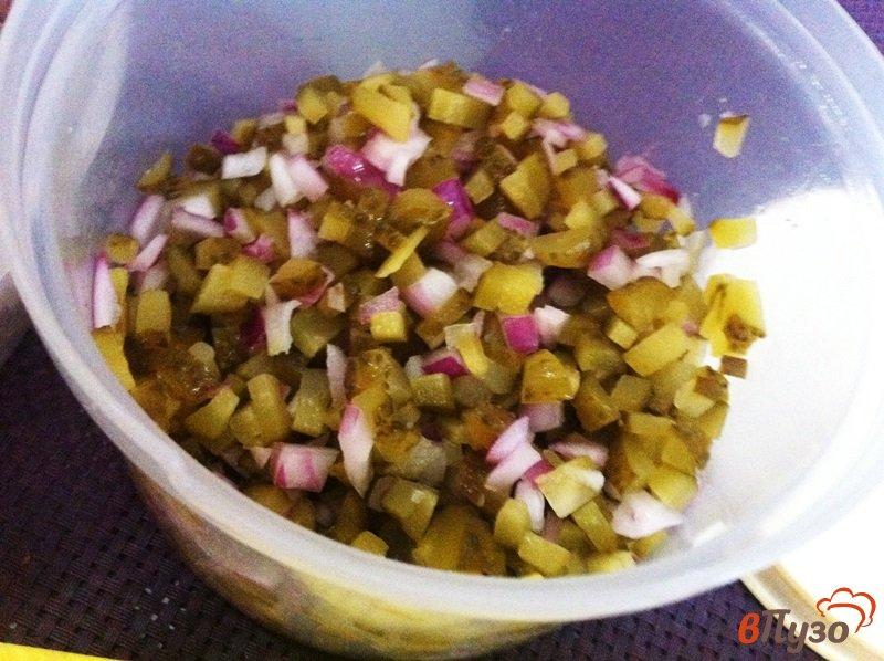Фото приготовление рецепта: Салат мясной шаг №3