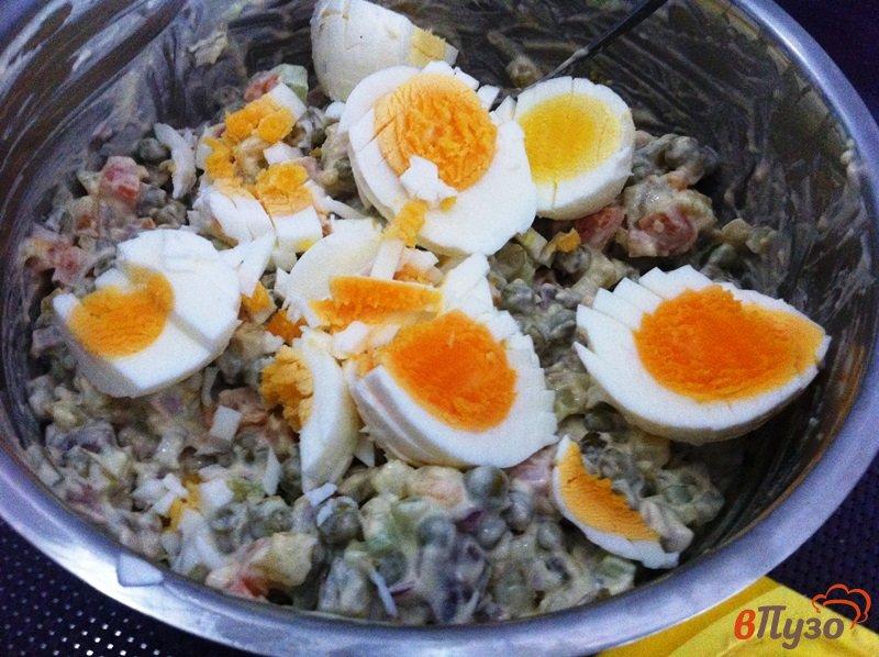 Фото приготовление рецепта: Салат мясной шаг №8
