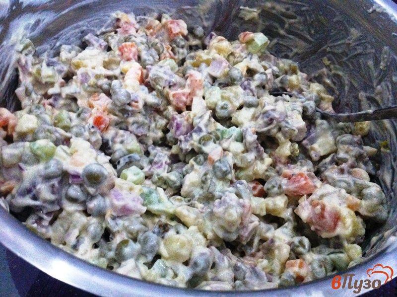Фото приготовление рецепта: Салат мясной шаг №7