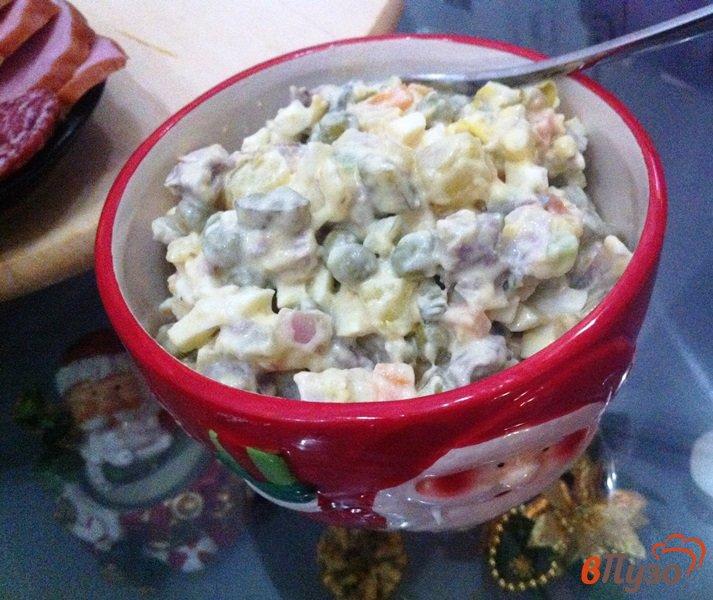 Фото приготовление рецепта: Салат мясной шаг №9