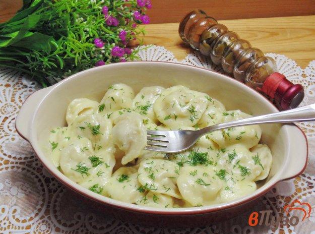 фото рецепта: Пельмени с сыром в духовке