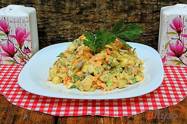 фото рецепта: Салат из вешенок