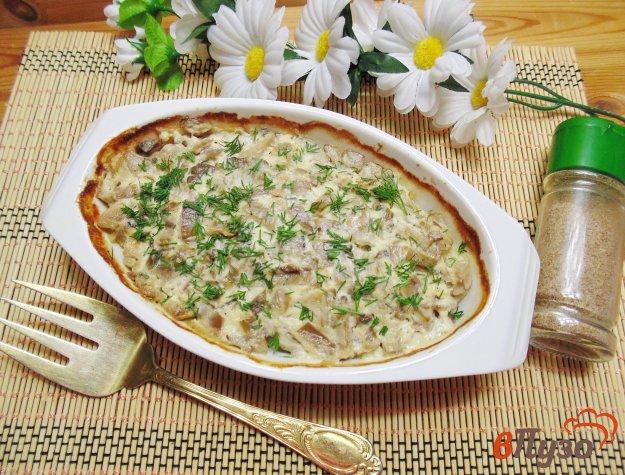 фото рецепта: Картофельная запеканка с грибами и плавленым сыром