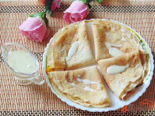 фото рецепта: Блины на кефире с молоком